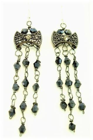 Dangle slider beads earrings-idea