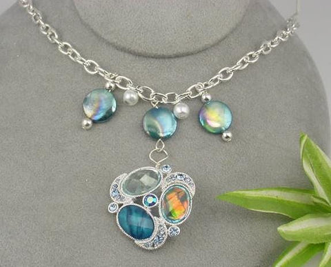 Drop Pendant style Slider Bead  Necklace-idea