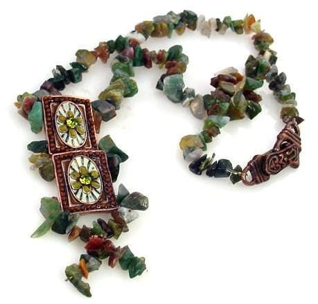 Green essence slider bead necklace-idea