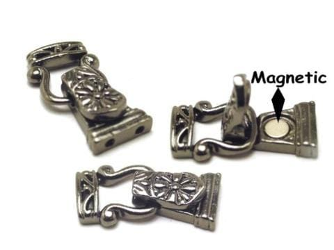Gun Metal Fold Over  Magnetic Clasps-1213blk-blk