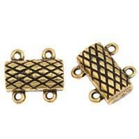 Magnetic Clasp Rectangle antique gold strand 14x13x5mm 160422162225-W1