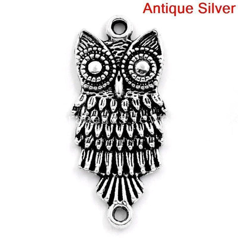 Owl_Connector_Charms_in_Antique_Silver_28.5x13mm,30PCs