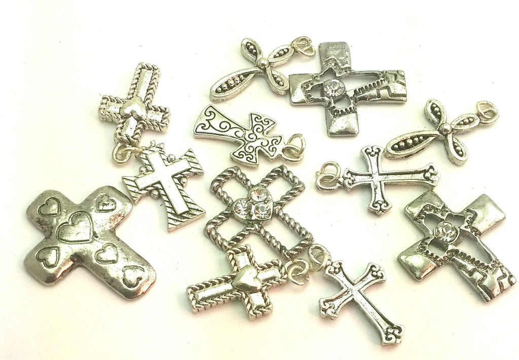 Platinum 12 cross 2 hole beads e5-f4