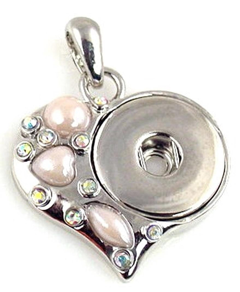 Platinum silver pink heartTwinklette 10835-H3