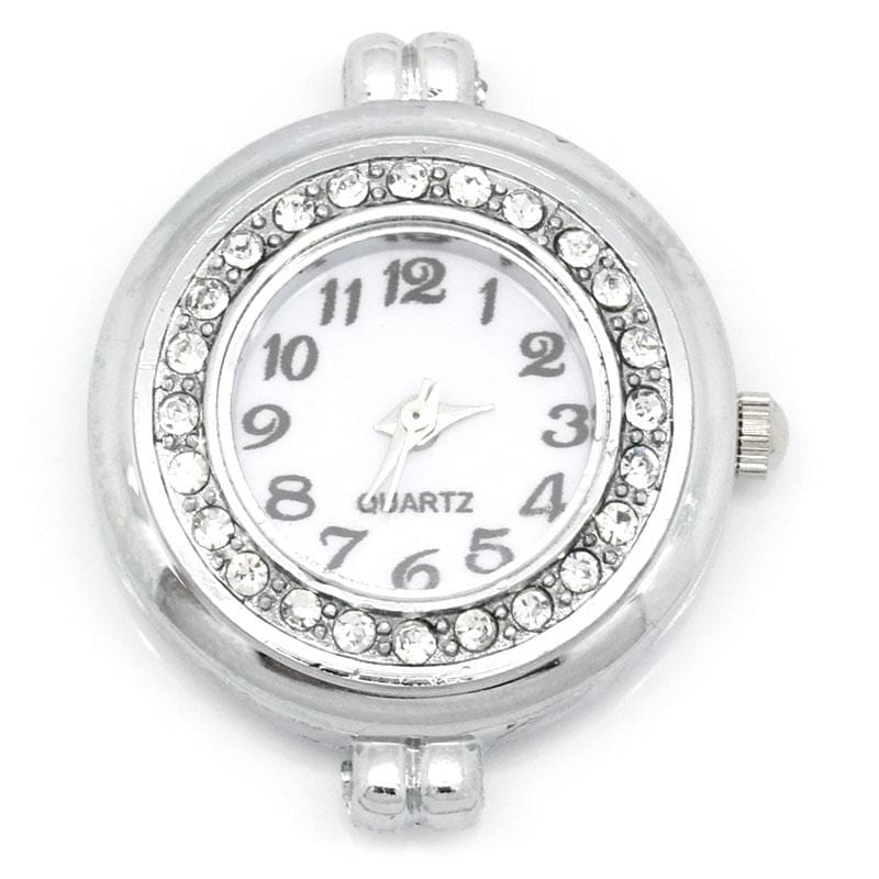 2PCs Rhinestone Watch Face for Beading 3.2cmx2.8cm
