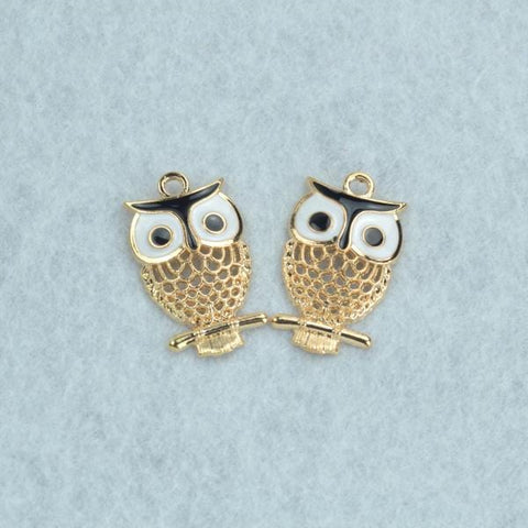 10 pcs hollow owl metal pendants - mobile-boutique.com