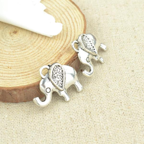 10 pcs  Silver  Elephant charms - mobile-boutique.com