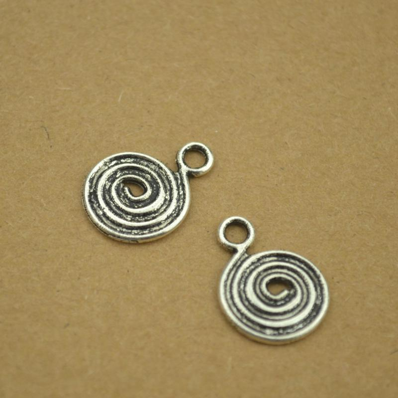 35 pcs antique silver swirl Design charms 18*13mm