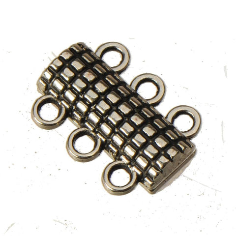 10 clasps Antique Silver Magnetic Design 18*13*5mm - mobile-boutique.com