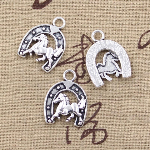 5 pcs western horse charms 23 x 18 mm