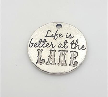 20 Pieces/Lot Life Is Better At The Lake Charms