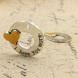 10 Pieces I love you more Message Charms - mobile-boutique.com