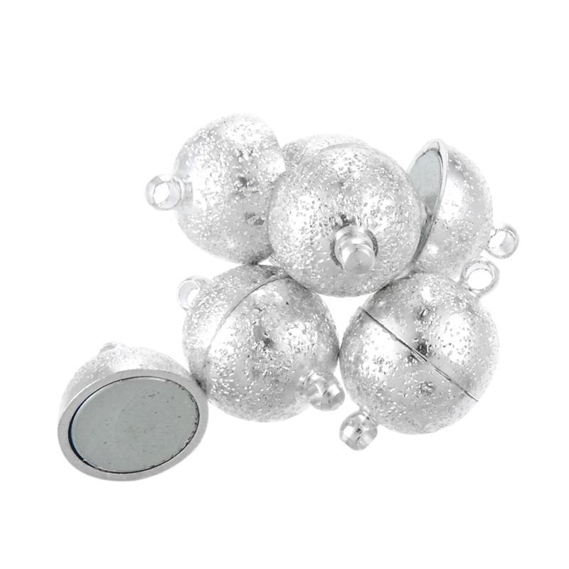10pcs Magnetic Round Silver Plated 18*12mm clasp - mobile-boutique.com