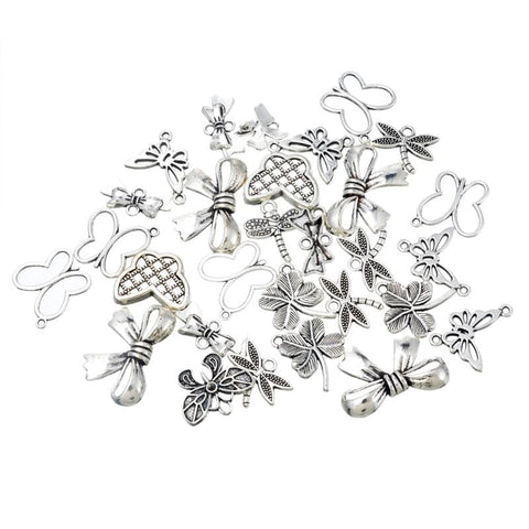 20PCs Ancient  Leaf Pendant Random Mix charms - mobile-boutique.com