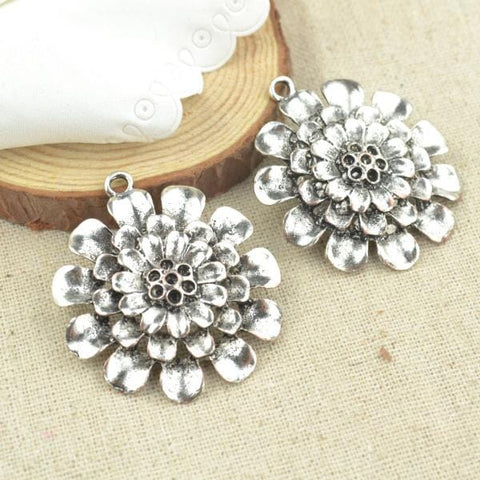 3 Pcs  flower Charms
