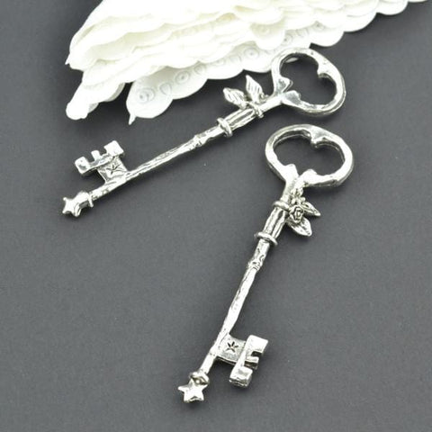 5Pcs metal key Charm