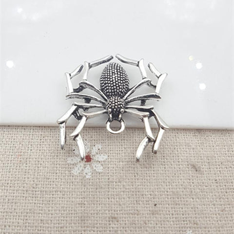 20pc/lot 29*33MM Antique Silver Spider Charm