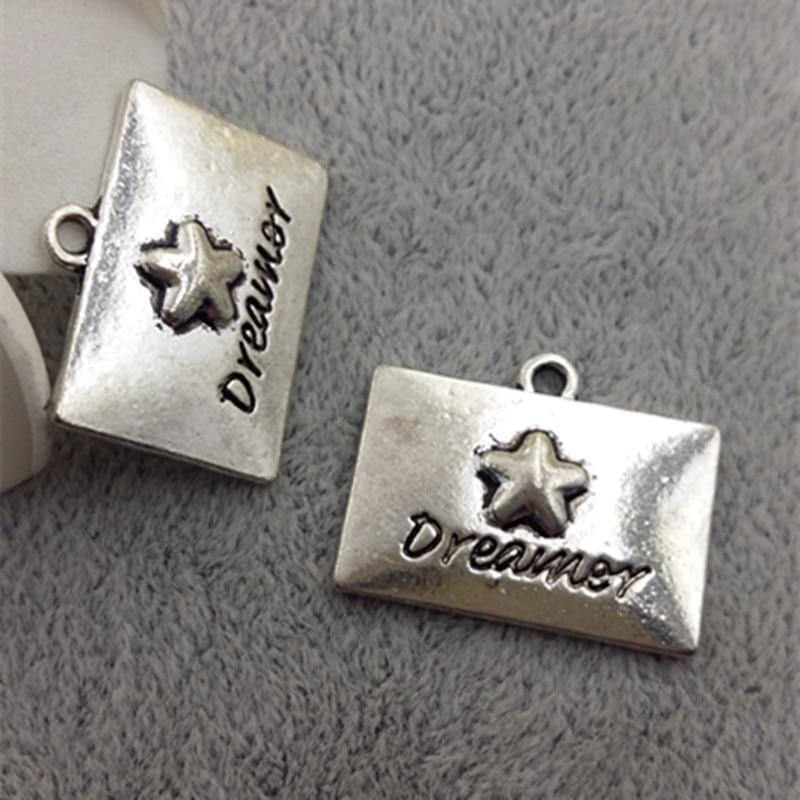 20pcs Antique Silver dreamer charms   15*24MM