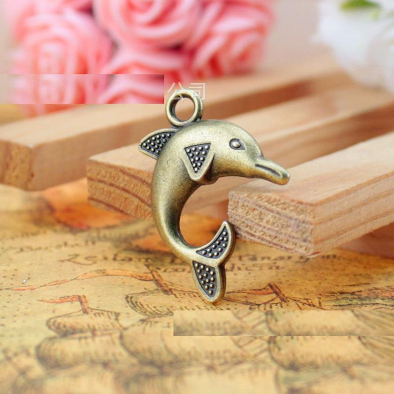 20 pc 32*23MM Antique Gold Dolphin Charms
