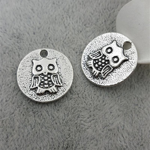20pcs/lot 20mm Owl Charms Tags