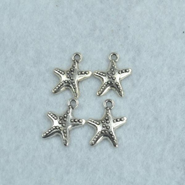 30pcs Starfish with texture and detailing Charms