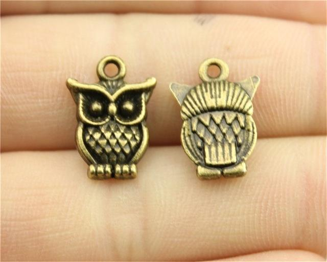 8 pcs Antique Silver or Gold Owl Charms  16*12mm
