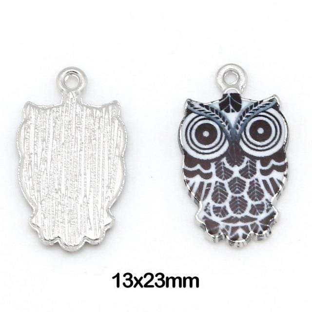 10pcs Owl charms