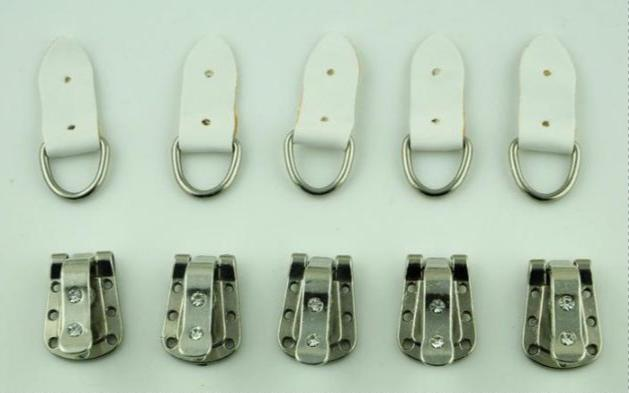 5 Platinum Silver Snap Fold Over Clasp, Only Fold Over Side, for Handmade Links - mobile-boutique.com