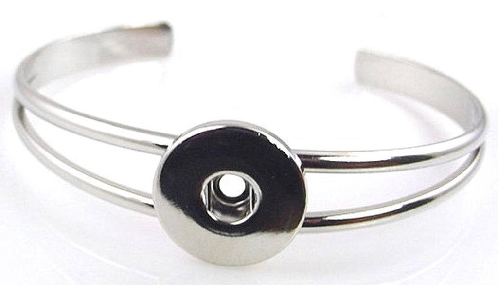 Silver bangle style twinklette interchangeable bracelet 10856-W3