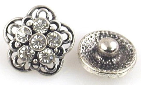 small wink with clear cz stones in a floral like pattern 10840-F13