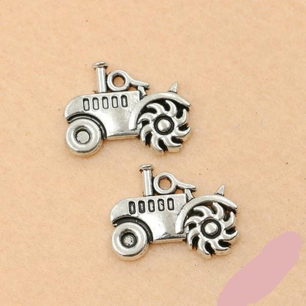 Tractor Charms Antique Silver Farming Charms 5x19mm