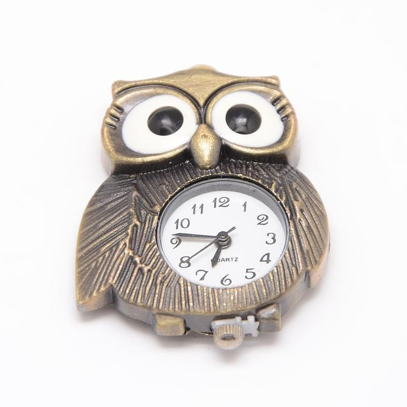 Vintage Style Owl Antique Bronze Watch Face 42x31.5x8mm