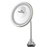 "Probeautify Probeautify 3x Magnifying Lighted Makeup Mirror - 10"" Long Gooseneck Mirror with Warm LED Light- Best Wireless, Battery Operated, Adjustable, Bathroom Vanity Dresser Mirror - FREE 10X Magnifying Spot Mirror"