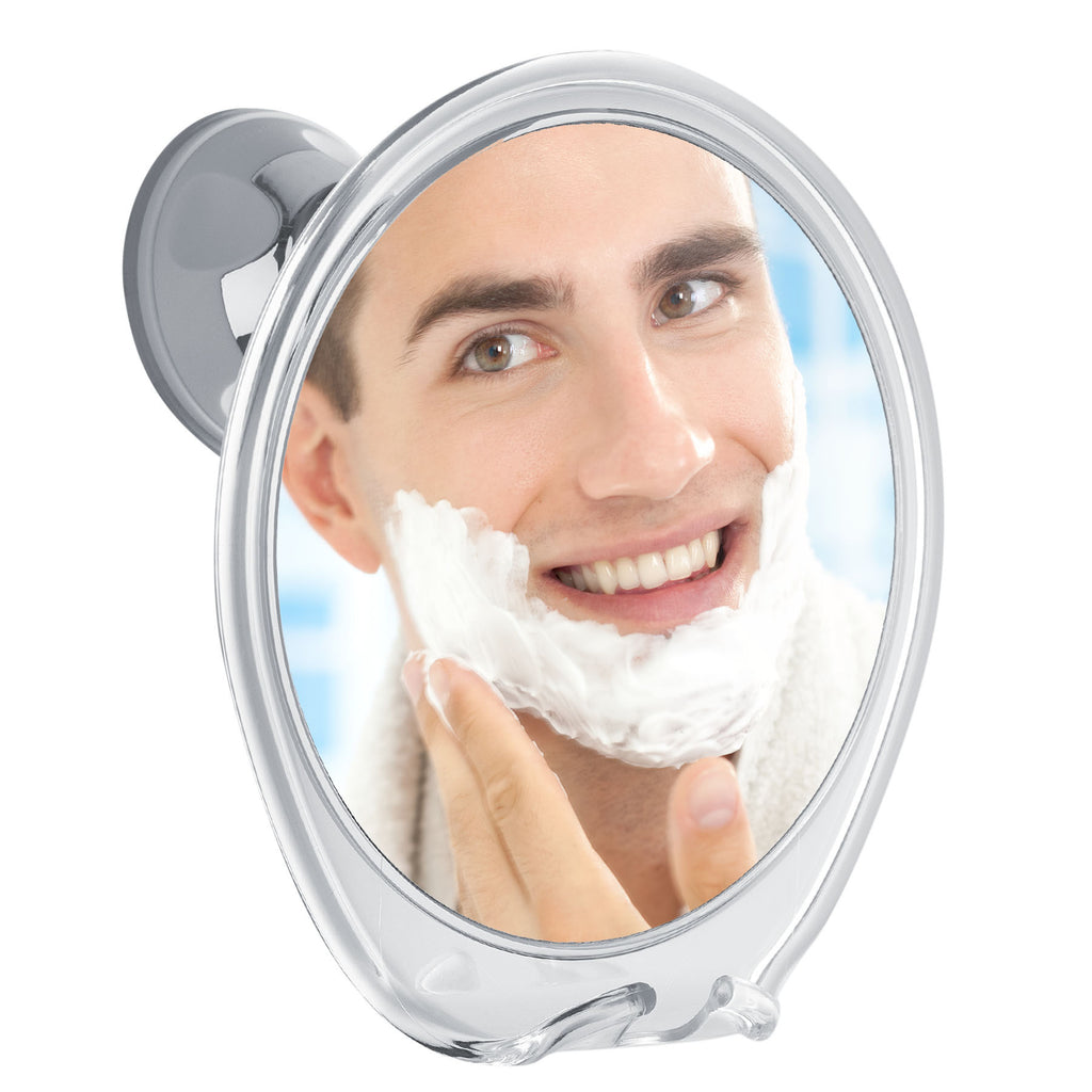 Probeautify 5X Magnifying, Fogless Shower Mirror with Razor Hook | Powerful Locking Suction Cup | 360 Degree Rotating