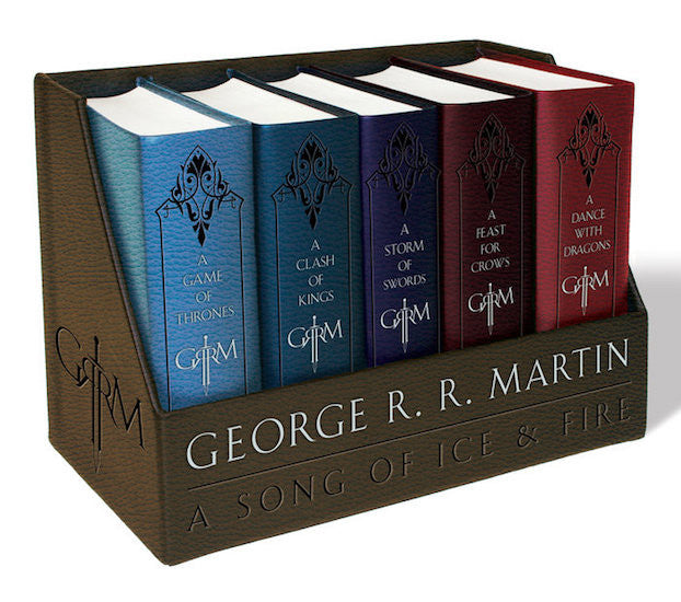 0aa8d4184a George R. R. Martin s A Game of Thrones Leather-Cloth Boxed Set (Song of Ice