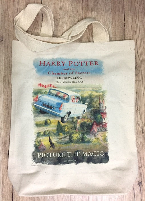 Harry Potter and the Chamber of Secrets Illustrated Edition by J.K. Rowling & Tote Bag