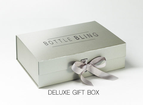 Bespoke 'Own Message' Deluxe Gift Box - glitter prosecco