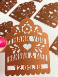 Wedding Thank You Personalized tags Laser Cut Gift Party Favor tags guest gift favor fiesta wedding shower destination wedding maraca tags