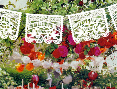 Papel picado Personalized Love bird design wedding garlands