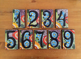 Talavera Tile Table numbers Weddings bridal shower rehearsal dinner fiesta shower fiesta cinco de mayo mexico destination wedding engagement