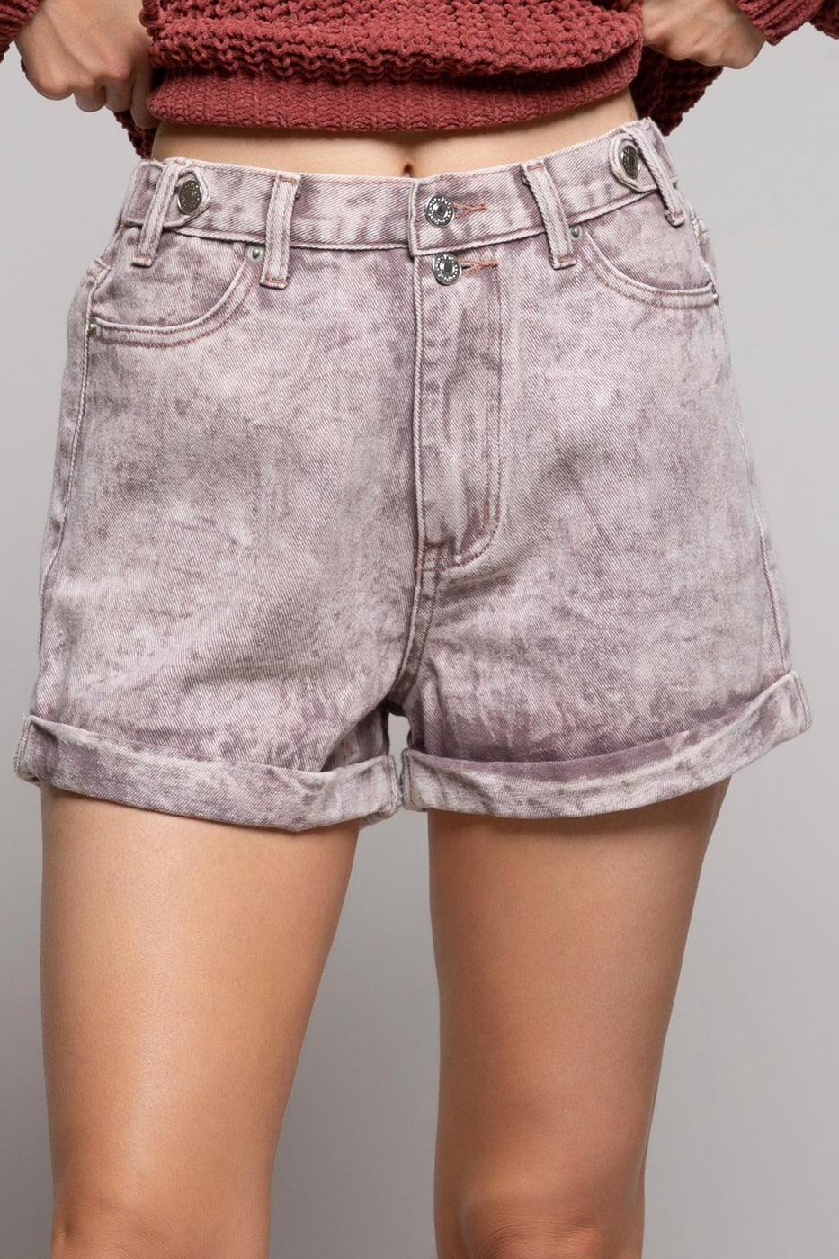 Acid Lavender Shorts