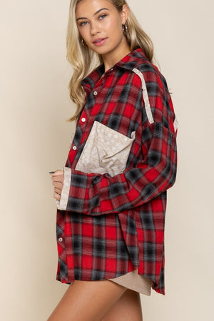 Crouch Plaid Shirt - Red