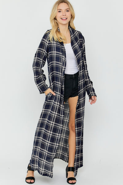 Erin Plaid Cardigan