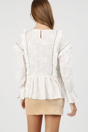 Enya Embroidered Blouse