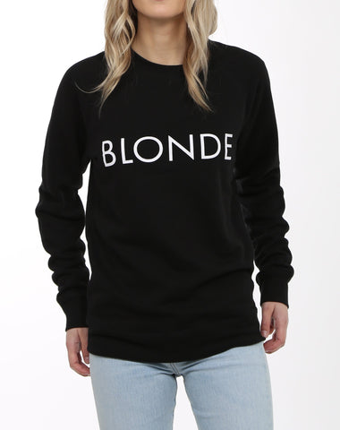 BLONDE Sweatshirt - BLACK