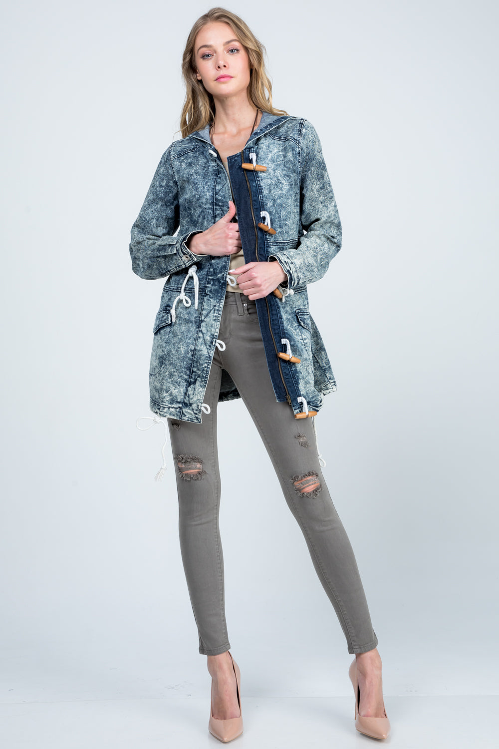 Rally Acid Wash Denim Jacket