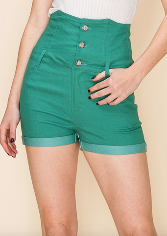 Savannah Shorts - Emerald