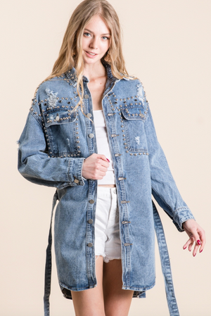 Evans Studded Denim Jacket