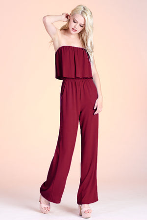 Taylor Jumpsuit - Wine