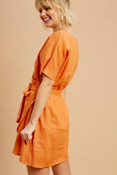 Sunset Linen Dress
